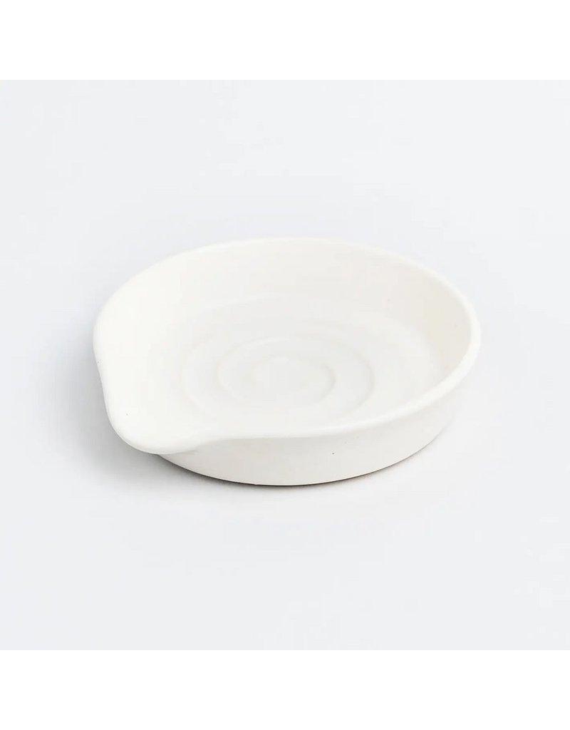 White Ceramic Shell Spoon Rest