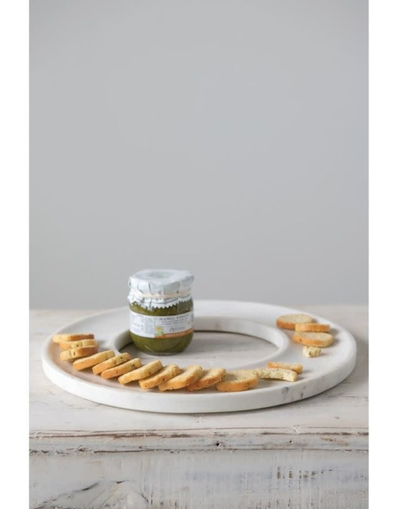 Round Marble Cracker-Cheese Serve Tray