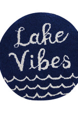 16' Navy Blue Lake Vibes Pillow
