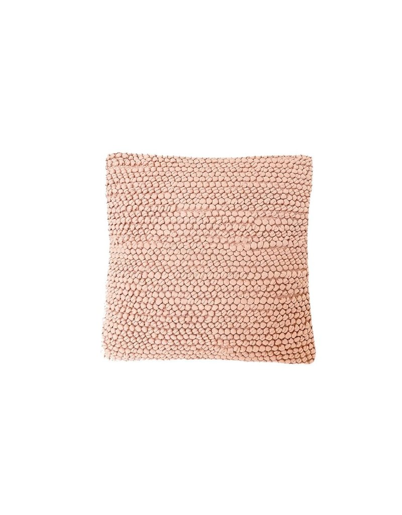 Pink Knotted Texture Cotton Throw Pillow