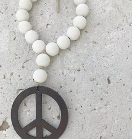 Mini Love Beads in Seashell -Peace Sign