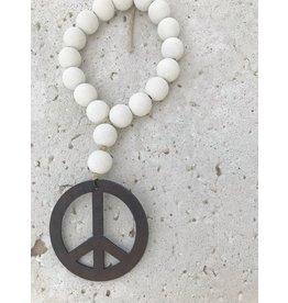 Mini Love Beads in Seashell -Peace Sign
