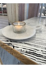 White Marble Dish with Handle