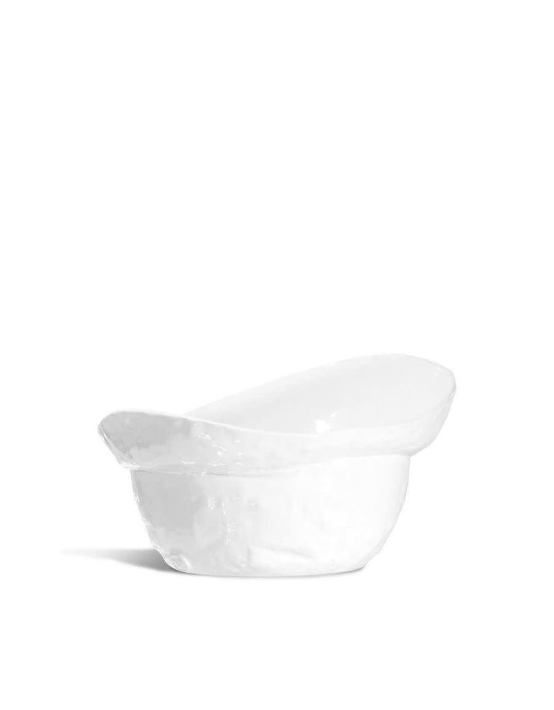 Hand Made White Serving Bowl - 991