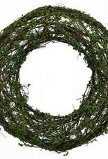"Green Grapevine Floral Wreath -14"""