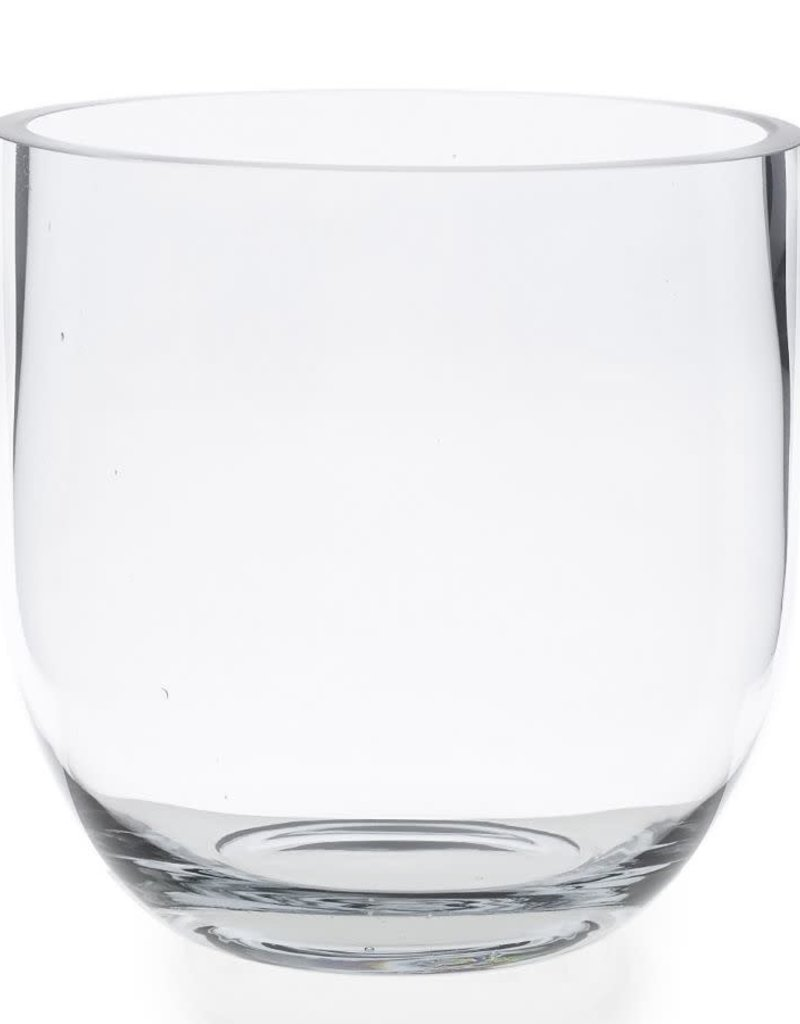 Fat Edge Clear Glass Vase - Medium