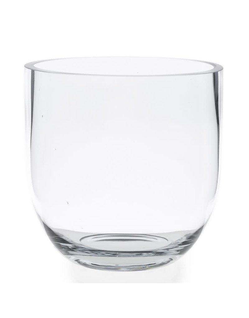 Fat Edge Clear Glass Vase - Medium