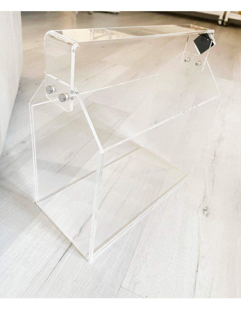 Acrylic Toolbox Magazine Rack