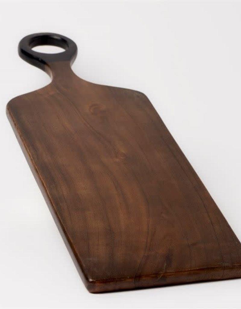 Dark Brown Acacia Wood Med Cutting Board