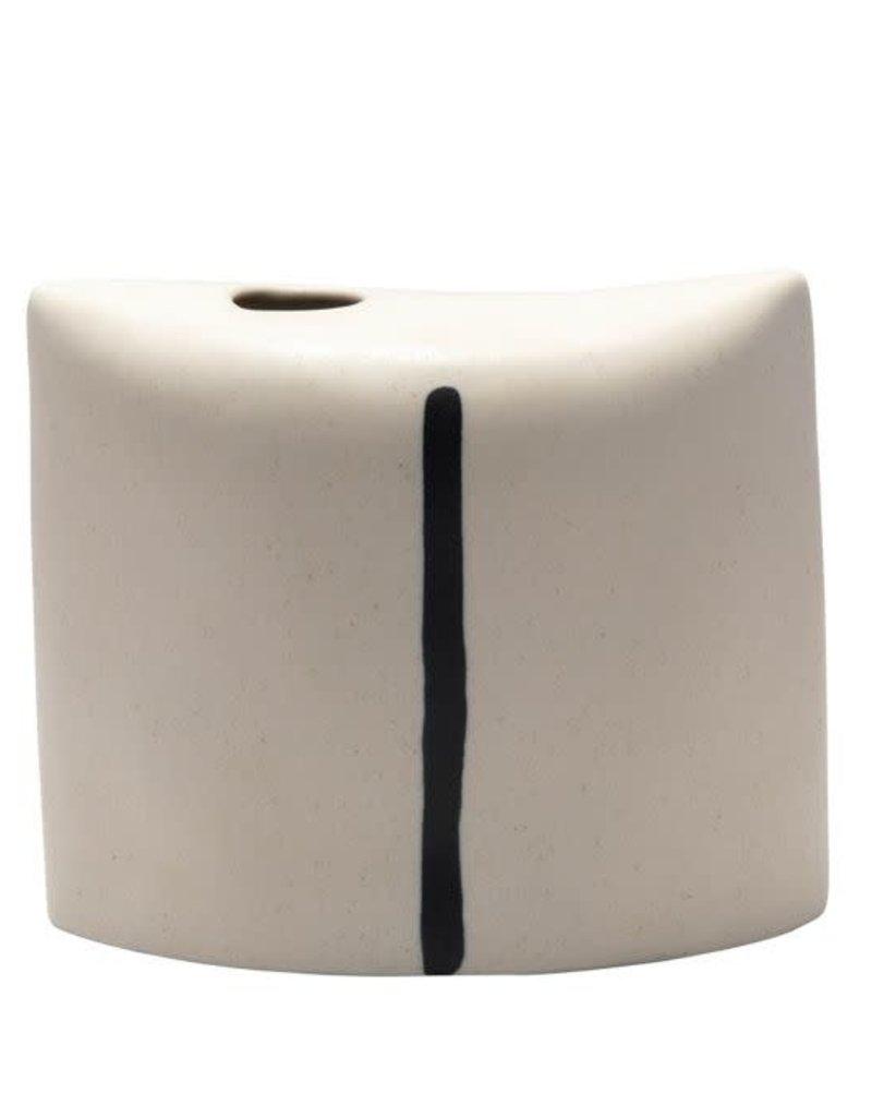 Medium Ceramic Cream Vase