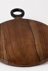 Dark Brown Round Acacia Wood Cutting Board