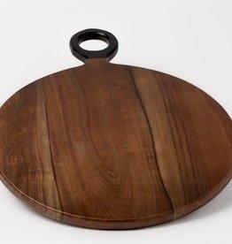 Brown Acacia Wood Cutting Board-SM