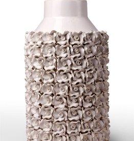 White Ceramic Floral Vase-Large