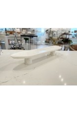 Marble Oval Platter with Marble Legs