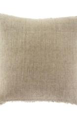 Belgium Linen Throw Pillow Sand