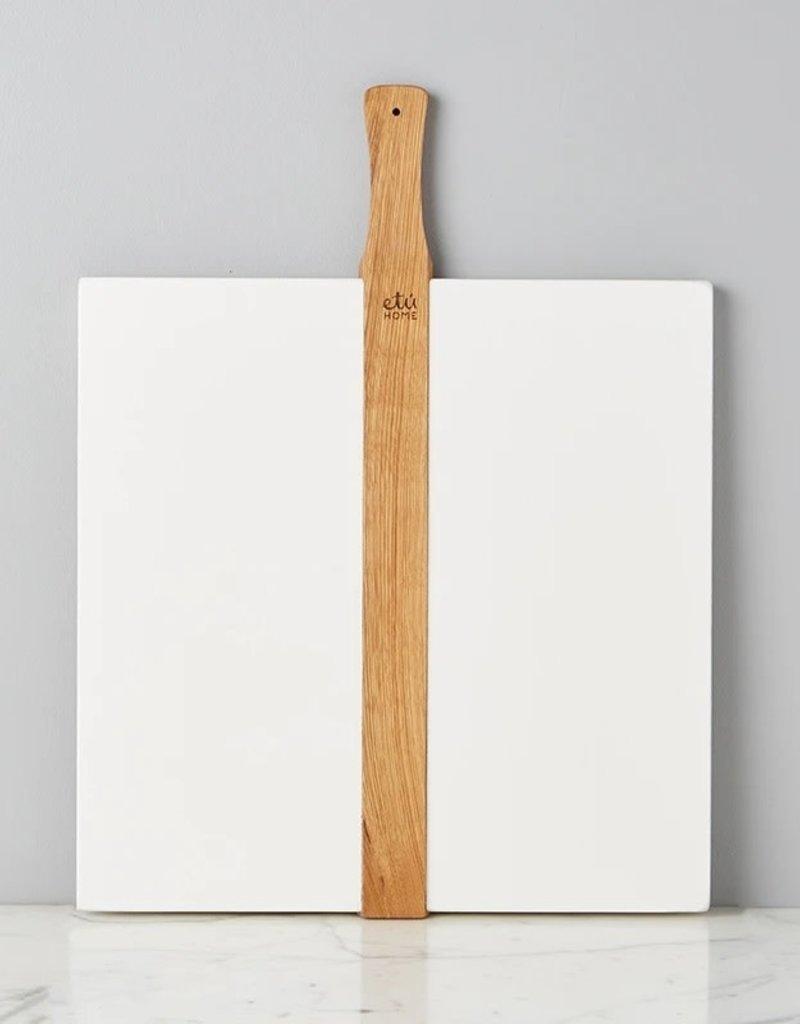 Large White Square Italian Pizza Board