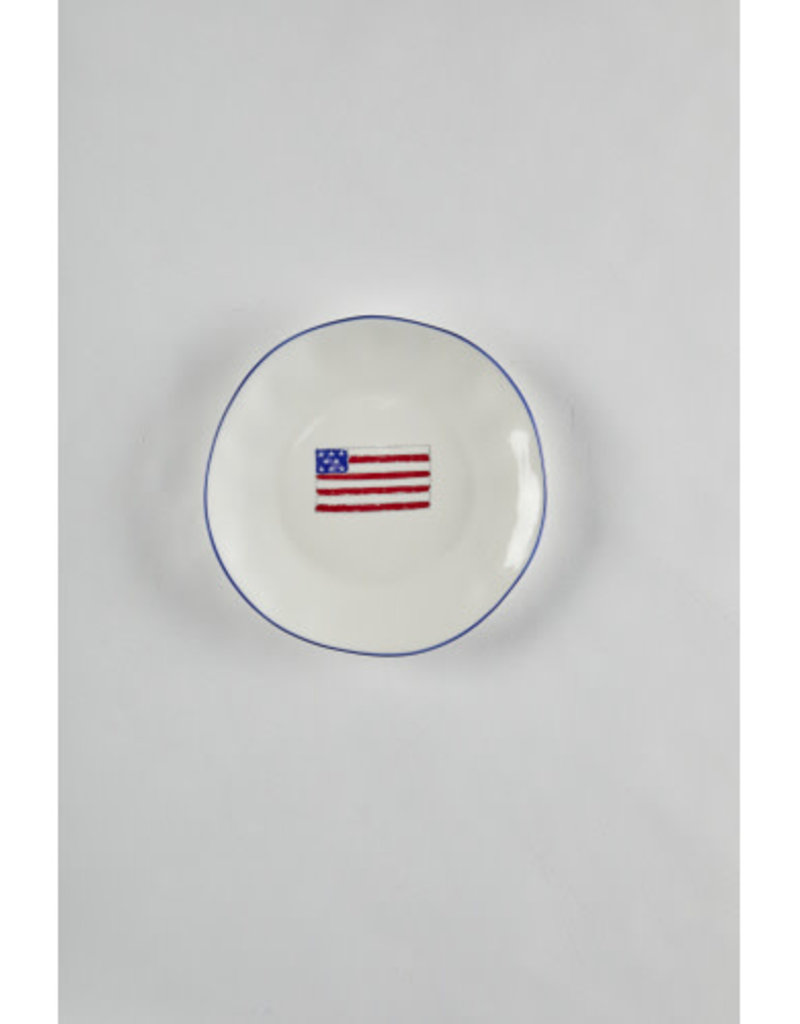 Americana Flag Salad Plate