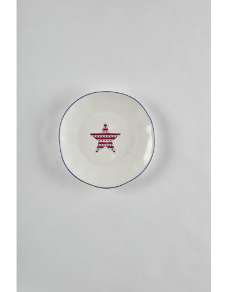 Americana Star Salad Plate