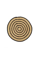 Seagrass Placemat- Black Rings