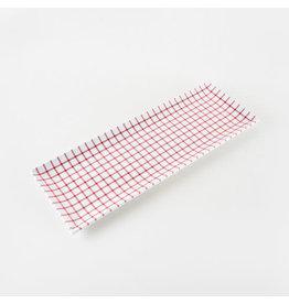 Red Melamine Gingham Sandwich Tray