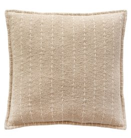Hand Quilted Striped Cotton Pillow