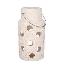 Large Handmade Lantern - Beige