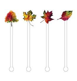 Beverage Acrylic Stir Sticks - Fall