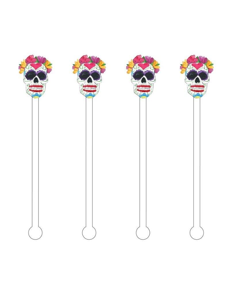 Mrs. Sugar Skull Acrylic Stir Sticks