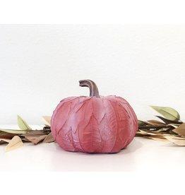 Lg Leaf Patterned Pumpkin - Red
