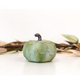 Sm Leaf Patterned Pumpkin - Green