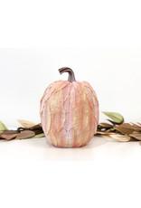 Lg Leaf Patterned Pumpkin - Yellow