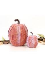 Sm Leaf Patterned Pumpkin - Orange