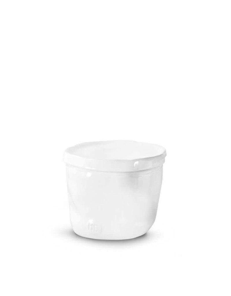 White Covered Ceramic Bowl - 225