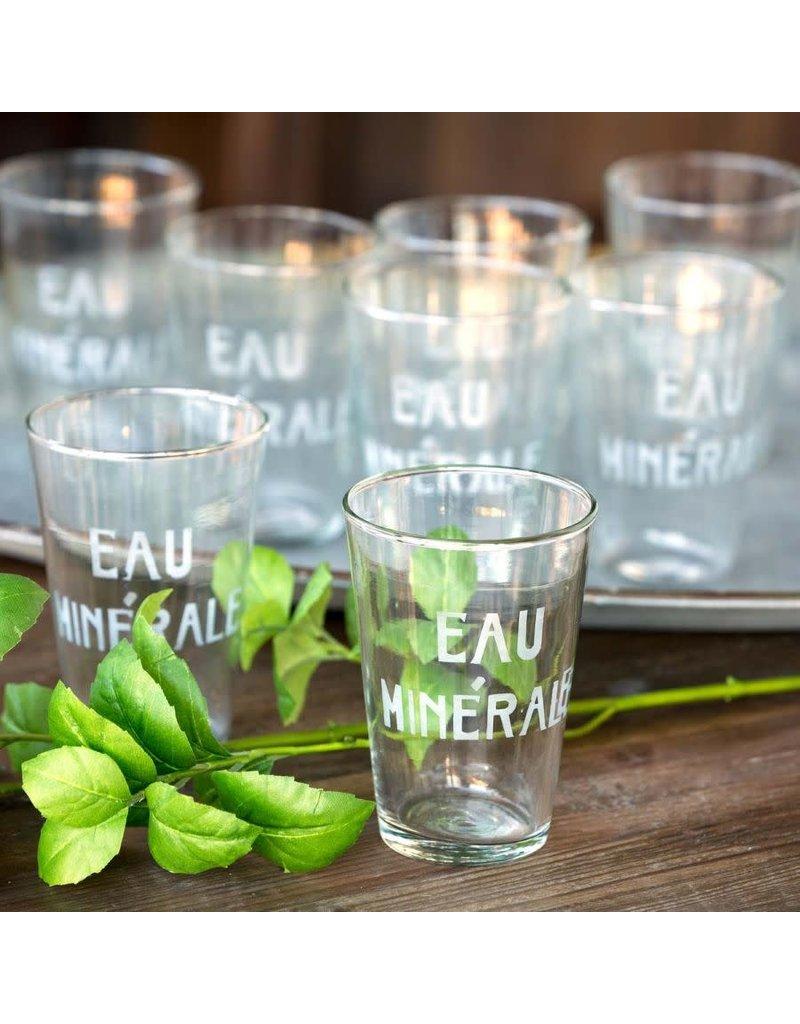 Eau Minerale Water Glass