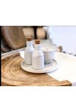White Ceramic Oil & Vinegar Set of 4