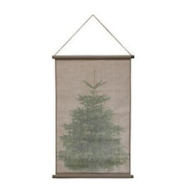 Christmas Tree Wall Hang -Canvas & Wood