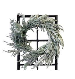 """24"""" Real Touch Flocked Norfork Pine Wreath"""