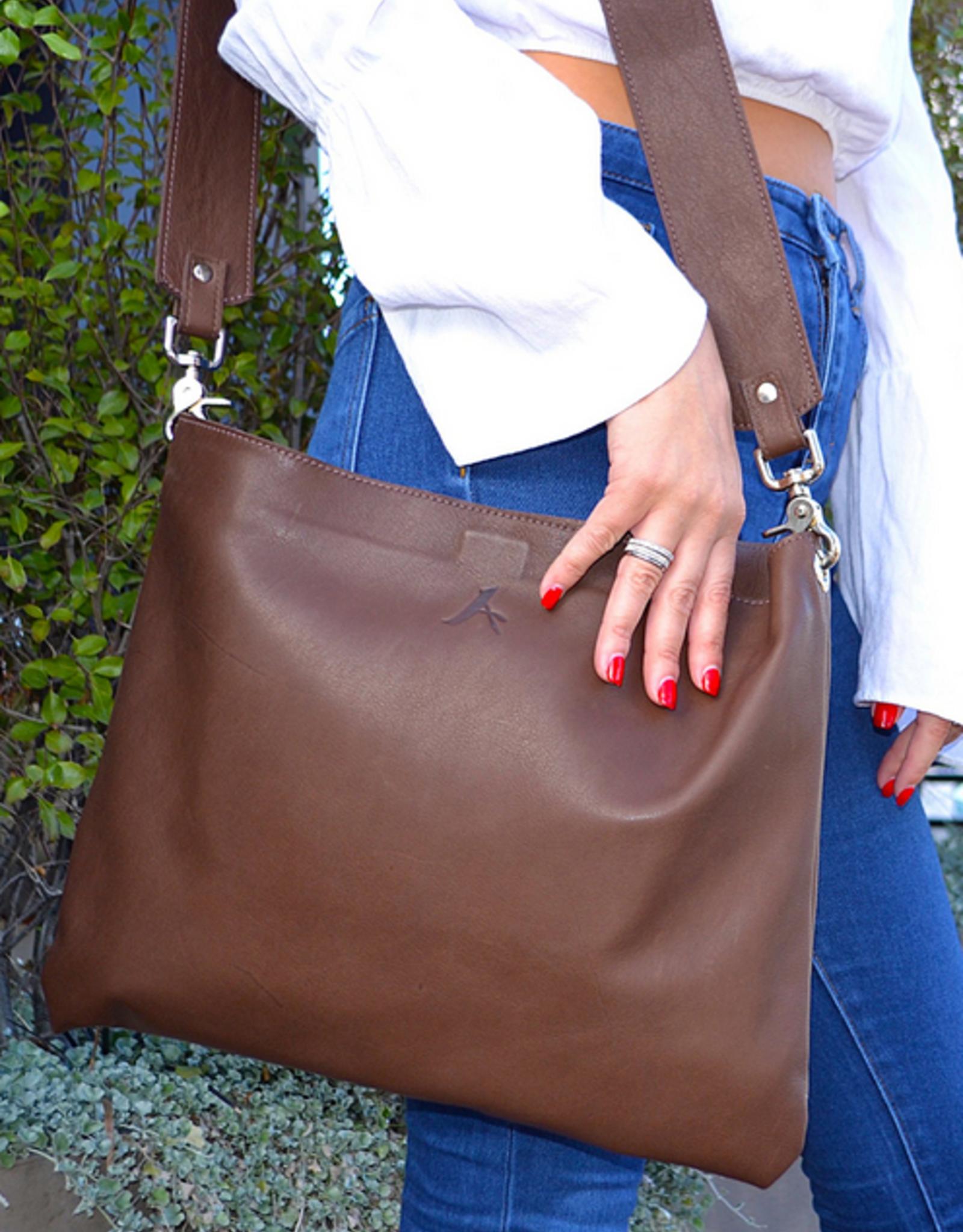 A Handmade Designs ALODIE Crossbody Leather Bag