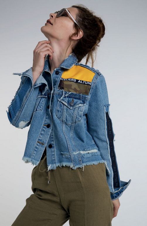 Altuner Aleteris Jeans Jacket With Patchs