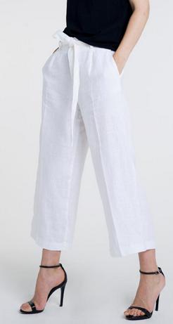 Altuner Aleteris Linen Pants With Belt