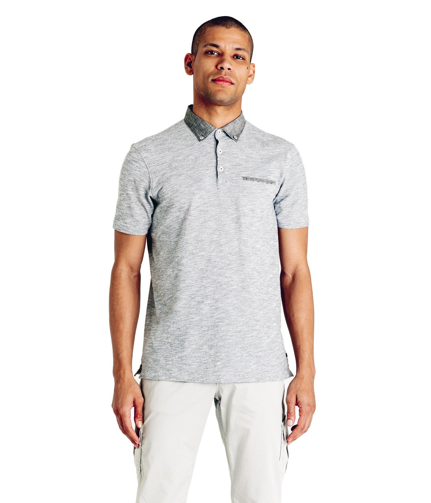 Good Man Brand Shinjuku Slub Stripe Jersey Polo