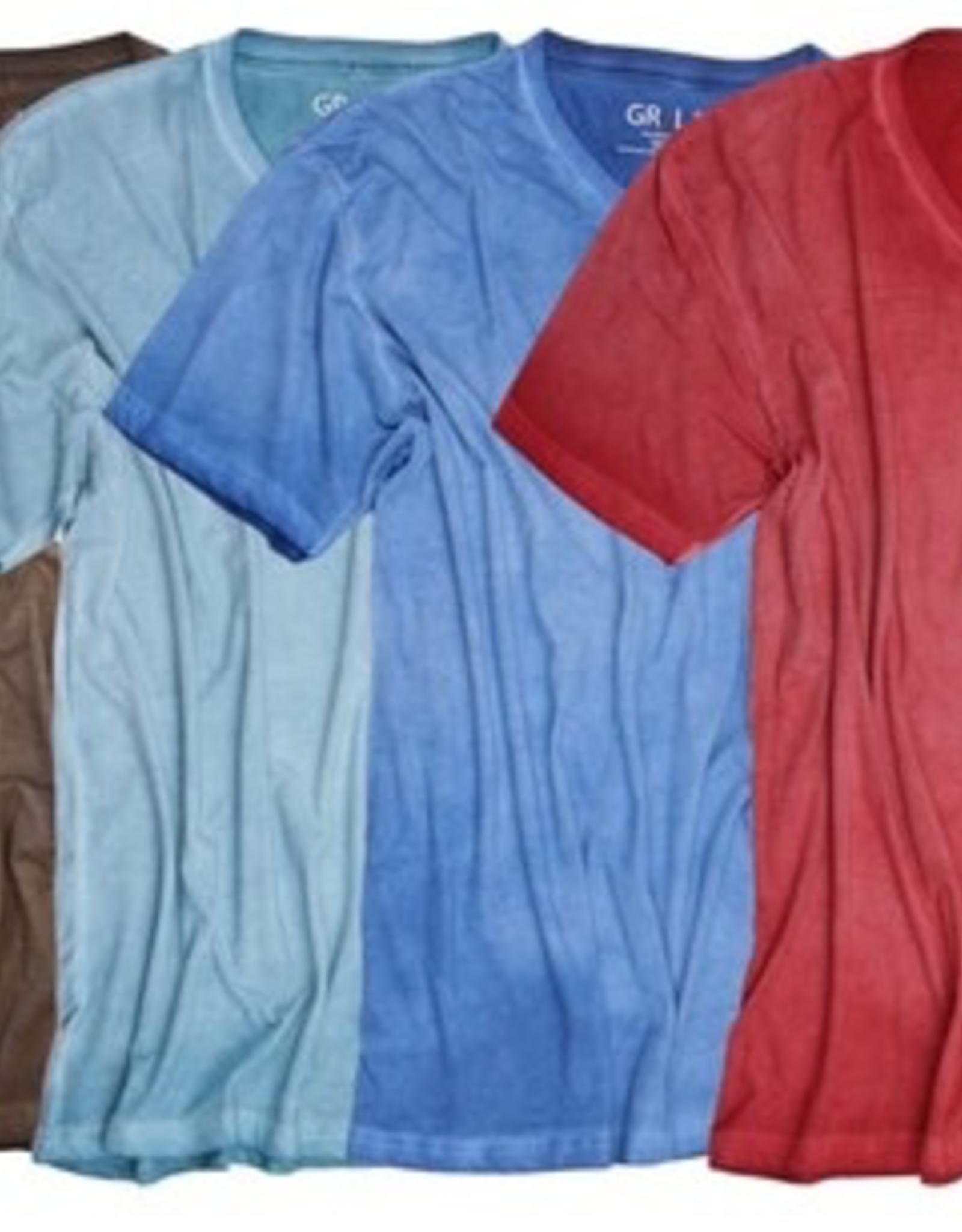 Georg Roth V-Neck Short Sleeves Garment Dyed T-Shirt