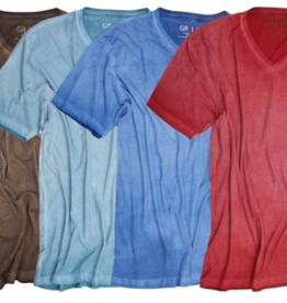 Georg Roth V-Neck Short Sleeves Garment Dyed T-Shirt