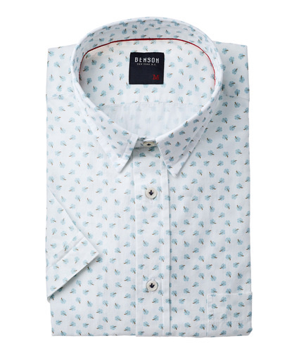 Benson SS Printed Button Down