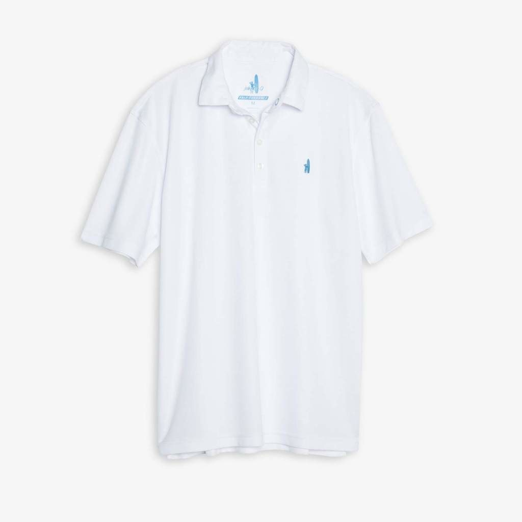 Johnnie-O Polo White S