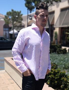 Emanuel Berg Harvard Modern Fit Linen Shirt