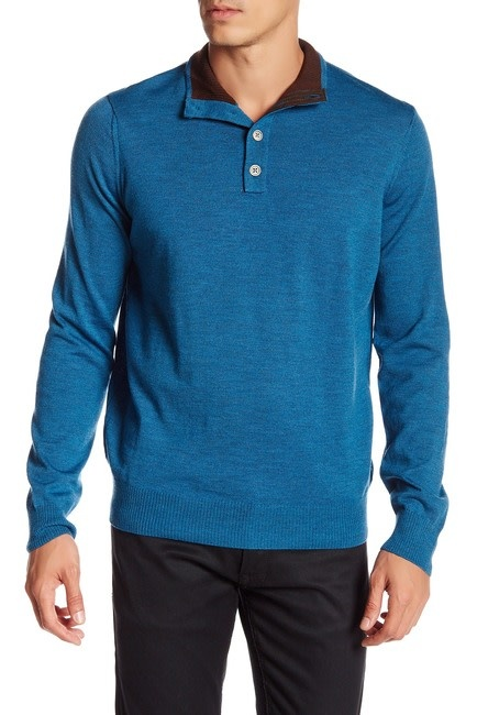 Thomas Dean & Co Thomas Dean 1/4 Button Sweater