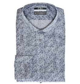 Thomas Dean & Co C3 Square Print Performance Sport Shirt
