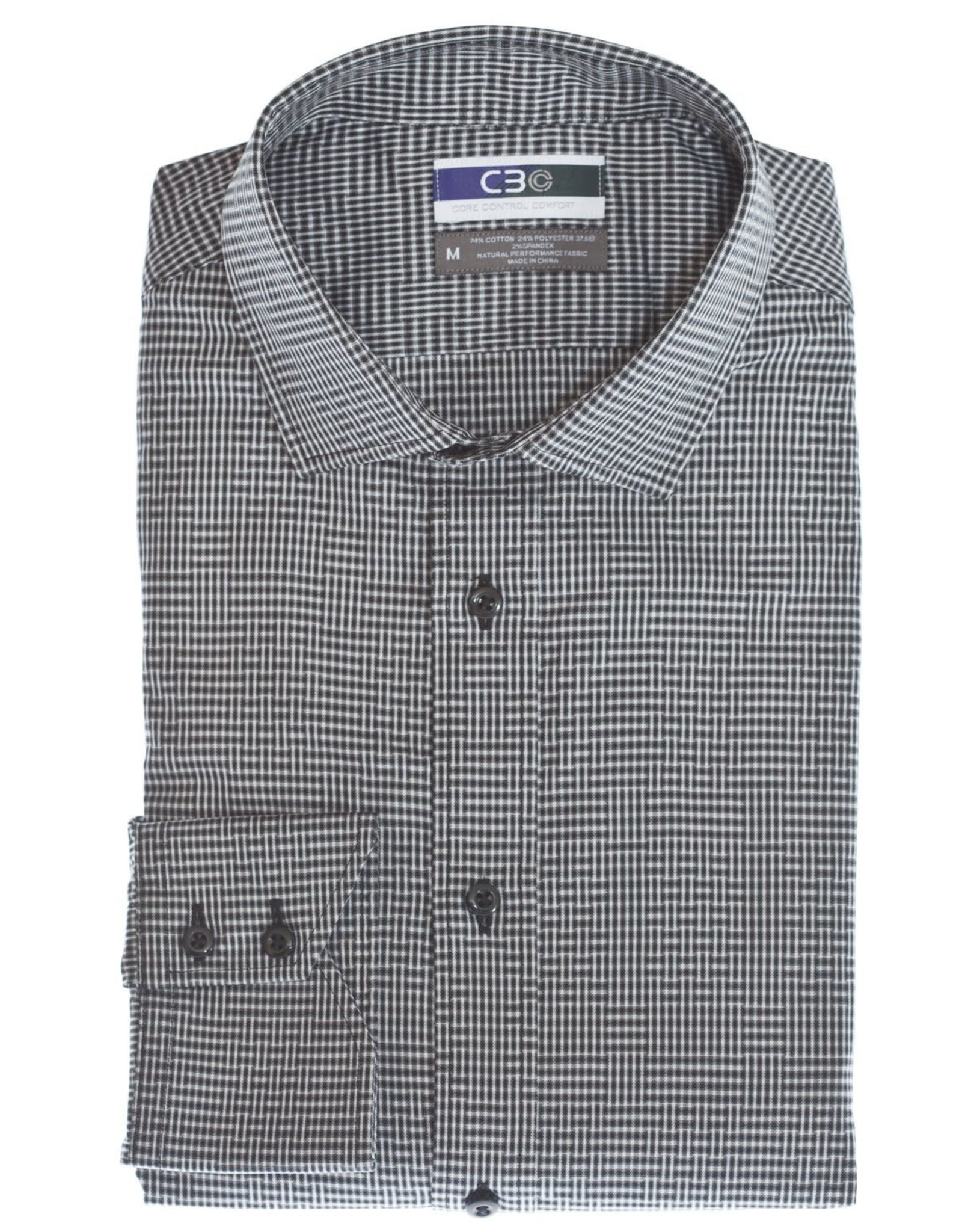 Thomas Dean & Co C3 Basketweave Performance Sport Shirt