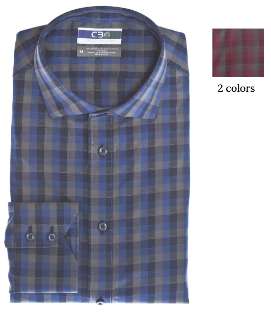 Thomas Dean & Co C3 Dobby Check Performance Sport Shirt